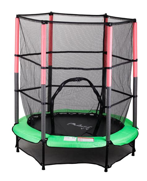 Advance Green Set Tpw troline with safety enclosure net ladder cover 8ft