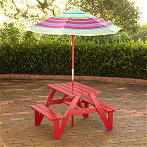 Children S Picnic Table With Umbrella by Picnic Table Umbrella Outdoor From Cost Plus World