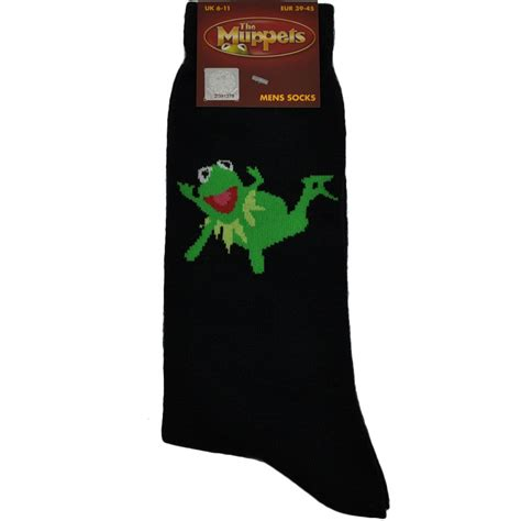 mens novelty gifts the muppets mens novelty socks kermit the frog laying