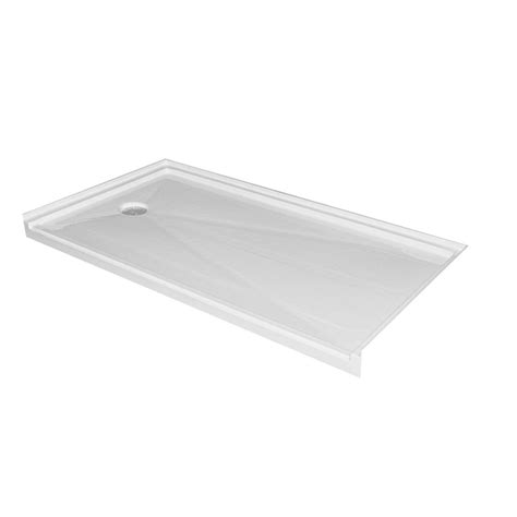 30 inch base acri tec single threshold barrier free shower base with