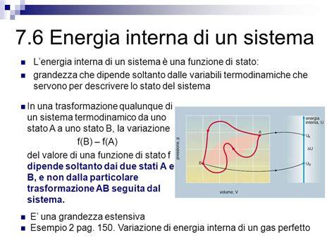 energia interna di un gas 7 il primo principio della termodinamica ppt