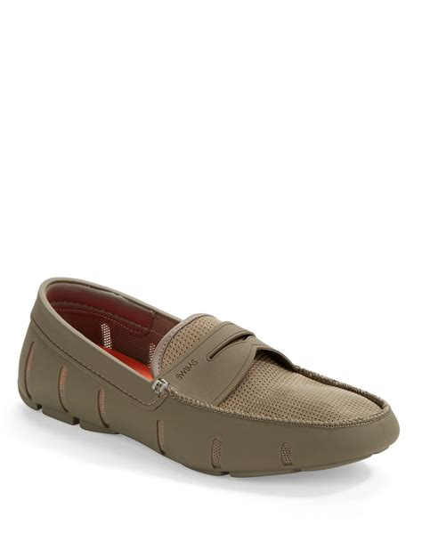 swims loafers swims rubber loafers in khaki for lyst