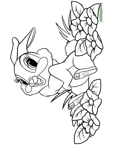 thumper bunny coloring pages bambi printable coloring pages 2 disney coloring book