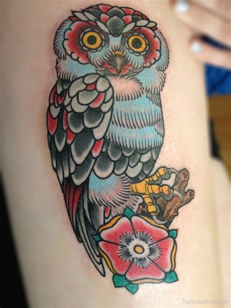colorful owl tattoo owl tattoos designs pictures page 23