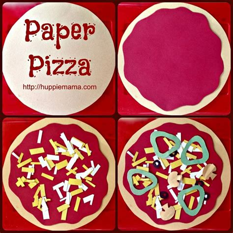How To Make Paper Pizza - 25 best ideas about pizza craft on paper
