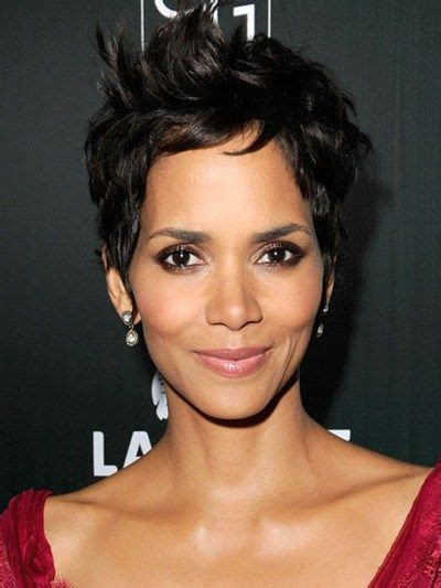 hair cut for high cheek bones halle berry s short hair for high cheekbones short