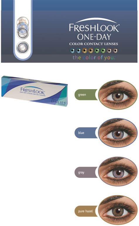 Backpack 3in1 Dk freshlook one day daily disposable coloured contact lenses