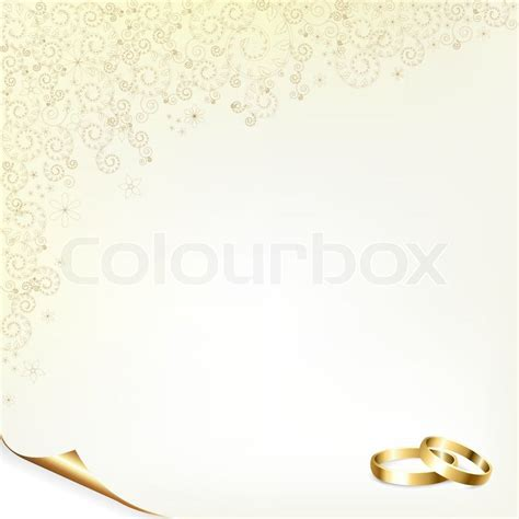 Wedding Background Gold by Wedding Background With Gold Rings Vector Illustration