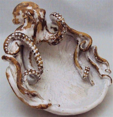 Octopus Decor by Octopus Bowl Small Ceramic Sculpture Decor