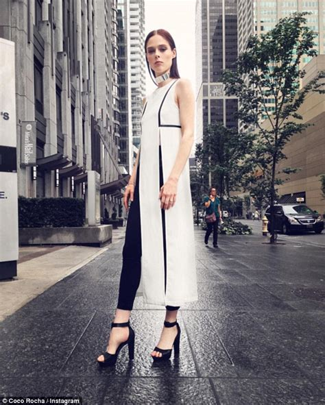 amope spokesmodel coco rocha shows elegant side at foot care event in