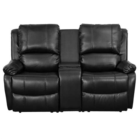 2 Seat Recliner by 2 Seat Home Theater Recliner In Black Bt 70295 2 Bk Gg
