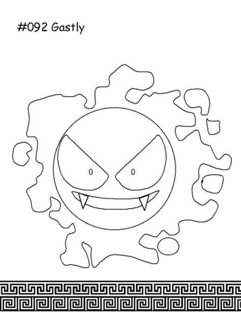 ghost pokemon coloring pages pok 233 mon spectre colouring pages