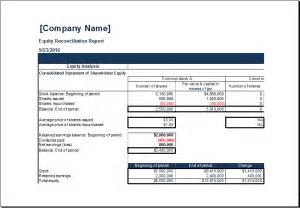 Reconciliation Report Template ms excel equity reconciliation report template excel