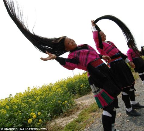 Chinese women with the world's longest locks show off the ancient tradition   Daily Mail Online