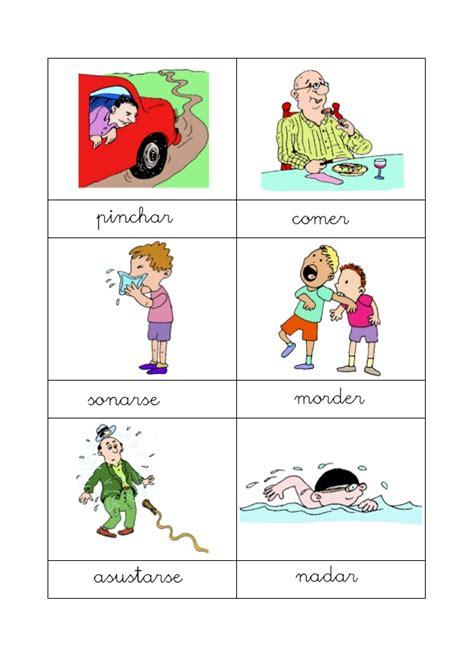 imagenes en ingles de acciones acciones con dibujos
