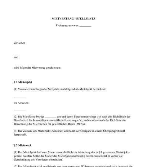 K Ndigung Stellplatz Vorlage by Mietvertrag Garage Stellplatz Carport Muster