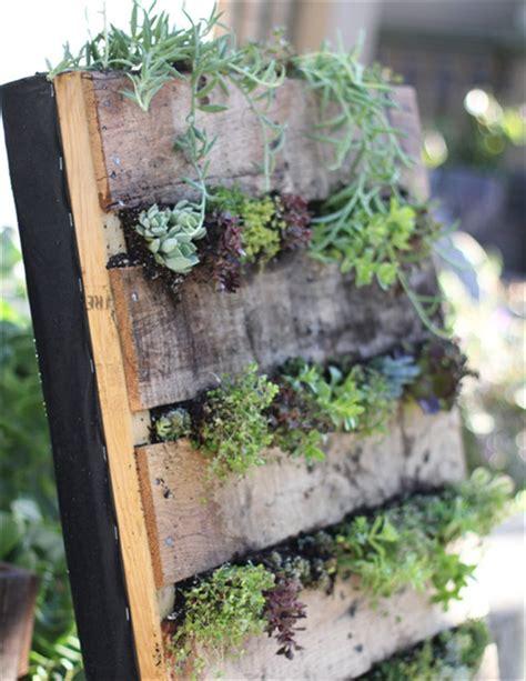 Recycled Vertical Garden Diy Pallet Garden Give Sense Of Freshness Indoor Pallet