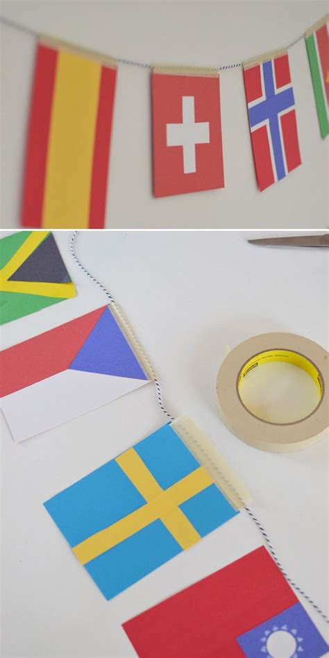 flags of the world garland diy olympic flag garland world flags world cup 2014