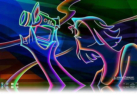 download theme windows 7 neon neon art windows 7 theme download