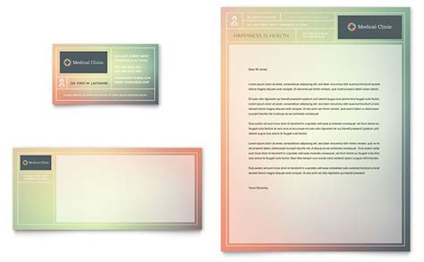 Medical Clinic Business Card Letterhead Template Design Letterhead And Business Card Templates