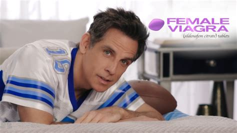 viagra commercial football jersey actresses with short ben stiller s fake female viagra commercial is brutally