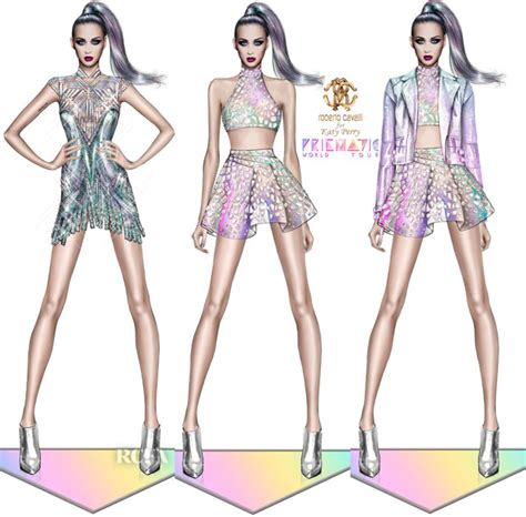 More Cavalli Design Sketches For Spice Tour The Union Is Back by Fab Fashion Katy Perry Shows Sketches Of Quot Prismatic
