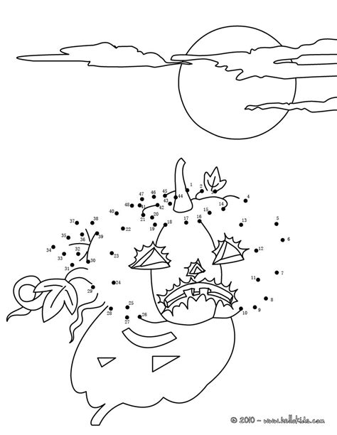 halloween coloring pages dot to dot scared pumpkin dot to dot game coloring pages hellokids com