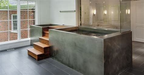 custom built bathtubs stainless steel fully skirted contrast tub with built in