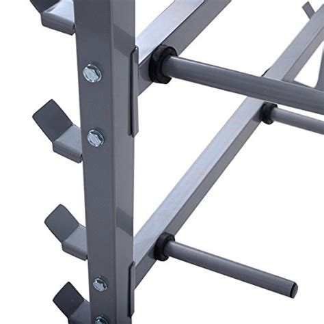 dumbbell bench rack giantex 2 tier 40 barbell dumbbell rack weights storage