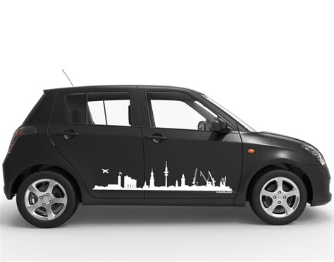 Autoaufkleber Mazda by Autoaufkleber Car Tattoo Skyline Hamburg Mit Elbphilharmonie