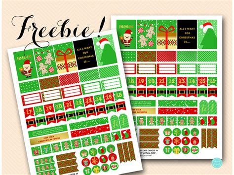 free printable christmas planner stickers free download christmas planner stickers magical printable