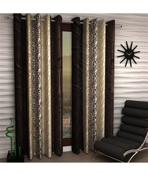 brown door curtain home sizzler brown door curtains set of 2 buy home