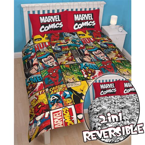 Official avengers marvel comics bedding bedroom accessories duvets curtains ebay