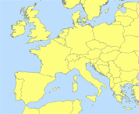 blank map of central europe map of western europe with cities