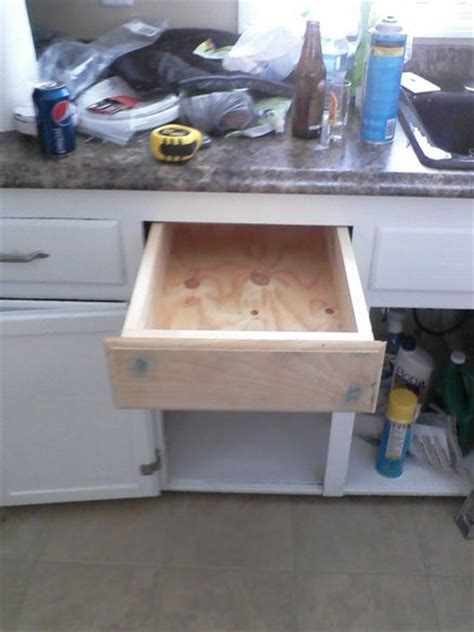 Kitchen Cabinet Drawer Repair by Replacement Kitchen Drawer By Shawnk Lumberjocks
