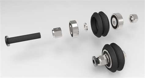 Delrin V Wheel Kit By 3dp Store dual v wheel kit delrin maker store usa