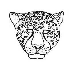Leopard Mask Template by Monday 26 Zoo Clean