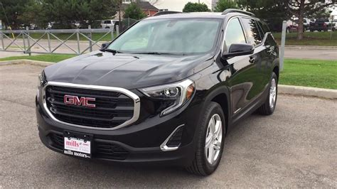 gmc terrain 2018 black 2018 gmc terrain sle awd redesign onyx black oshawa on