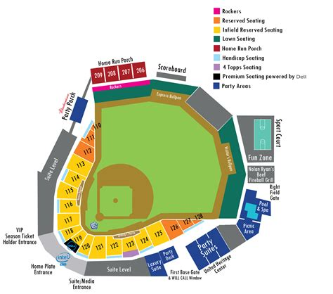 seating for seating chart rock express dell