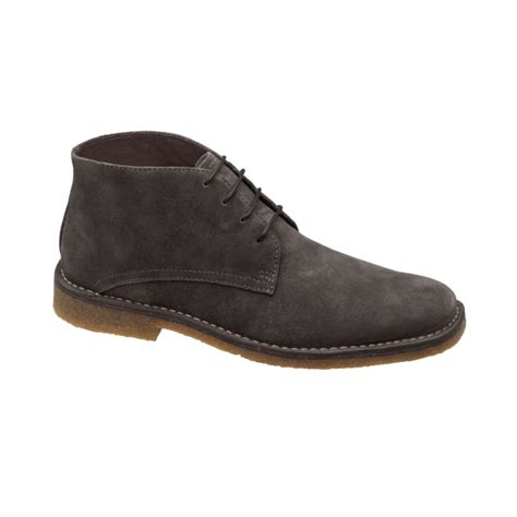 johnston murphy boots mens johnston murphy runnell chukka boots in gray for