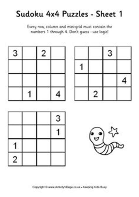 printable sudoku directions sudoku for kids 4x4 6x6 8x8 homeschool pinterest