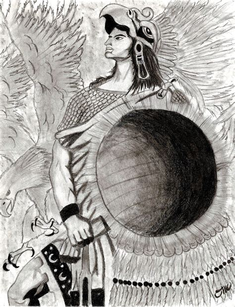 Aztec Warrior By Oliver1634 On Deviantart Aztec Warrior Sketches