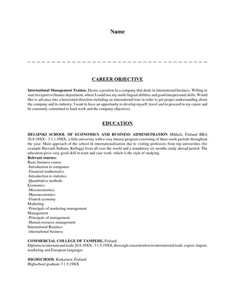 Career Objective Resume Sample objective examples for resumes