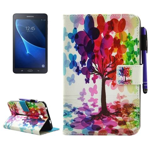 Samsung Tab A 7 0 2016 Flip Cover for samsung galaxy tab a 7 0 2016 t280 butterfly tree