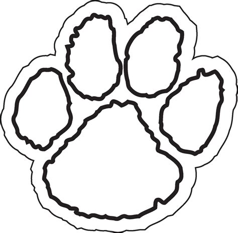 coloring page tiger paw oval shape template coloring home
