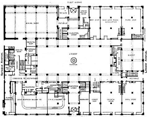 inn floor plans the davenport hotel vintage floor plan ground floor