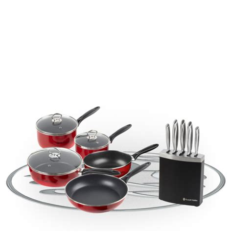 Pisau Set Russel Hobbs hobbs 5 pan set and 5 knife block