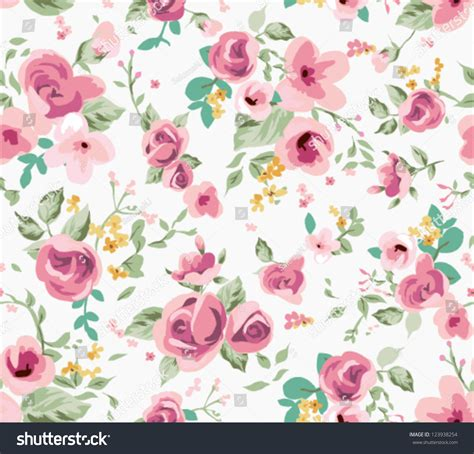 cute vintage pattern background seamless spring cute tiny vintage floral stock vector