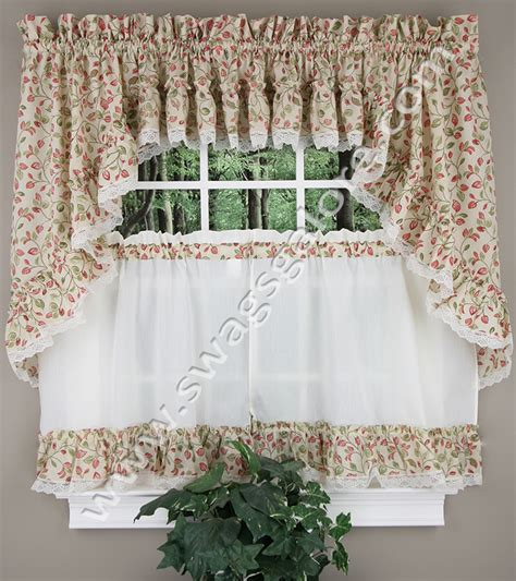 ruffled swag curtains clarice ruffled curtain swag violet ellis cafe