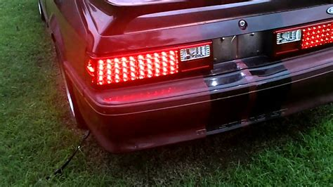 fox body led tail lights led flasher installed 1990 ford mustang gt youtube
